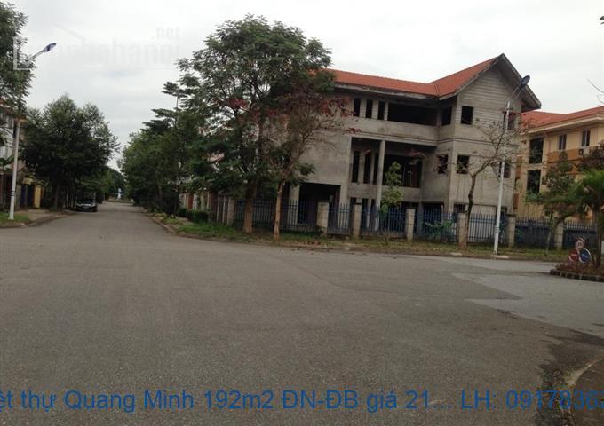 Bán biệt thự Quang Minh 192m2 ĐN-ĐB giá 3,5tỷ