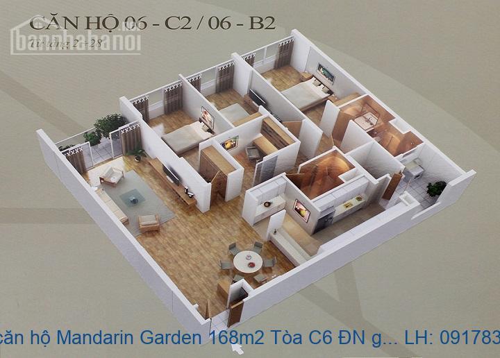 Bán căn hộ Mandarin Garden 168m2 Tòa C6 ĐN giá 7,9tỷ