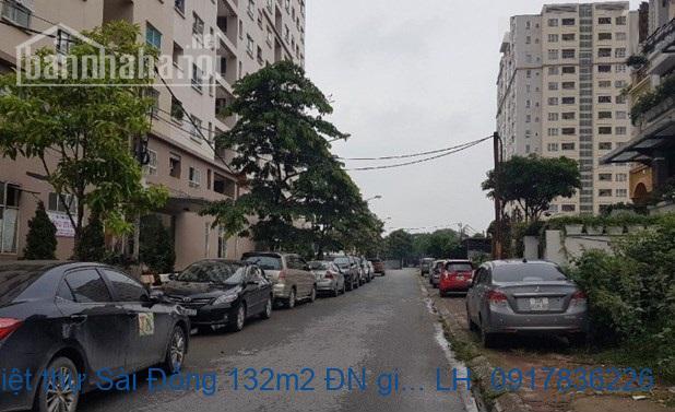 Bán đất biệt thự Sài Đồng 132m2 ĐN giá 65 triệu/m2