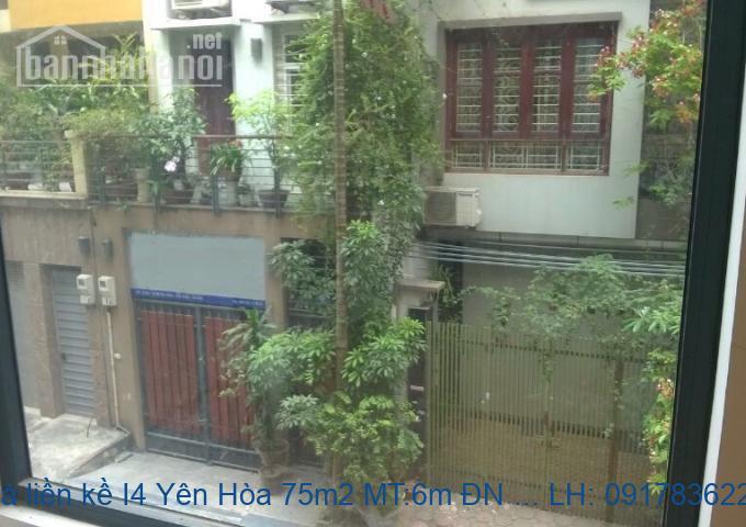 Bán nhà liền kề I4 Yên Hòa 75m2 MT:6m ĐN giá 15tỷ