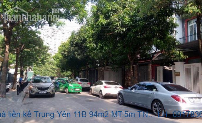 Bán nhà liền kề Trung Yên 11B 94m2 MT:5m TN giá 19,5tỷ