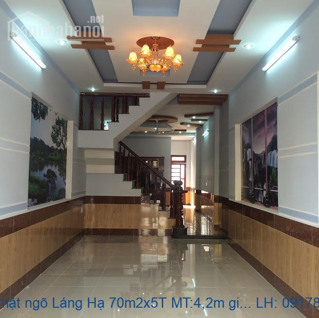 Bán nhà mặt ngõ Láng Hạ 70m2x5T MT:4,2m giá 14tỷ
