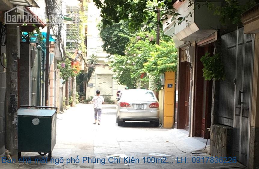 Bán nhà mặt ngõ phố Phùng Chí Kiên 100m2x2T MT:8,26m giá 9,5tỷ