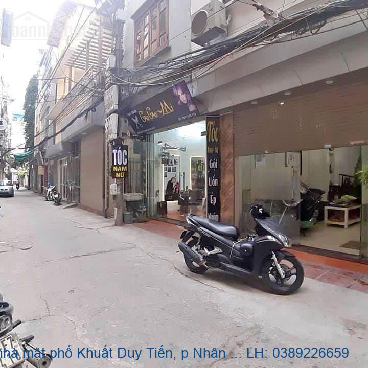 Bán nhà mặt phố Khuất Duy Tiến, p Nhân Chính, Thanh Xuân 110m2 giá 42t