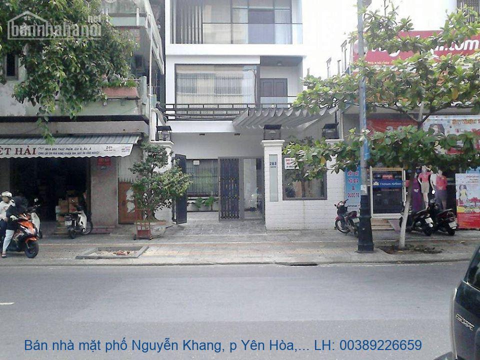 Bán nhà mặt phố Nguyễn Khang, p Yên Hòa, Cầu Giấy 136m2 giá 45tỷ