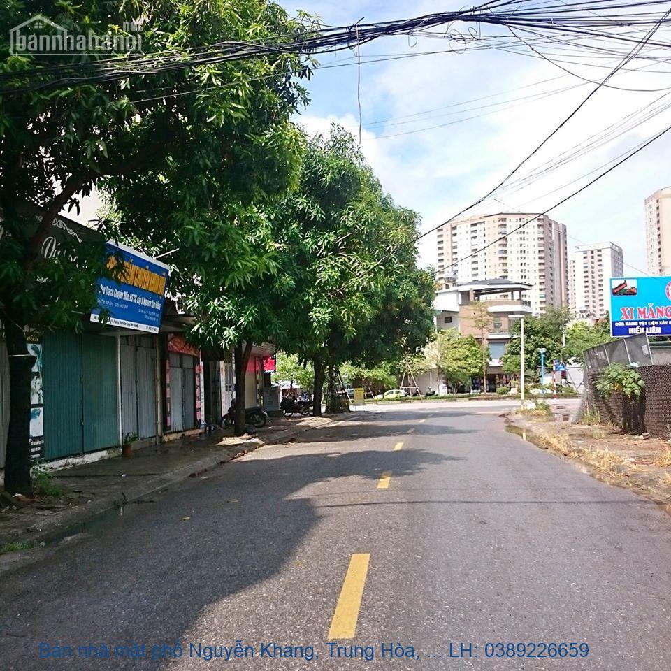 Bán nhà mặt phố Nguyễn Khang, Trung Hòa, Cầu Giấy 65 m2 giá 22 tỷ