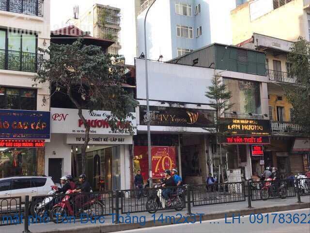 Bán nhà mặt phố Tôn Đức Thắng 14m2x3T MT:2,5m giá 4,5tỷ