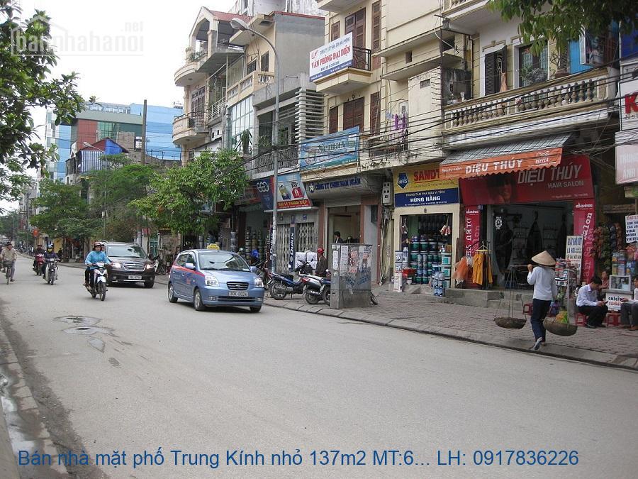 Bán nhà mặt phố Trung Kính nhỏ 137m2 MT:6m lô góc giá 35tỷ