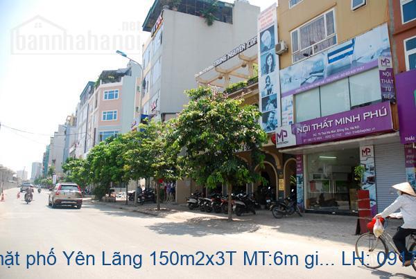 Bán nhà mặt phố Yên Lãng 150m2x3T MT:6m giá 50tỷ
