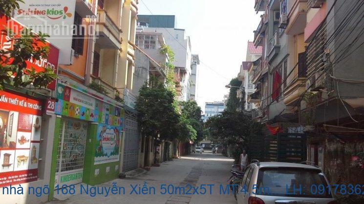 Bán nhà ngõ 168 Nguyễn Xiển 50m2x3T MT:4m giá 10tỷ
