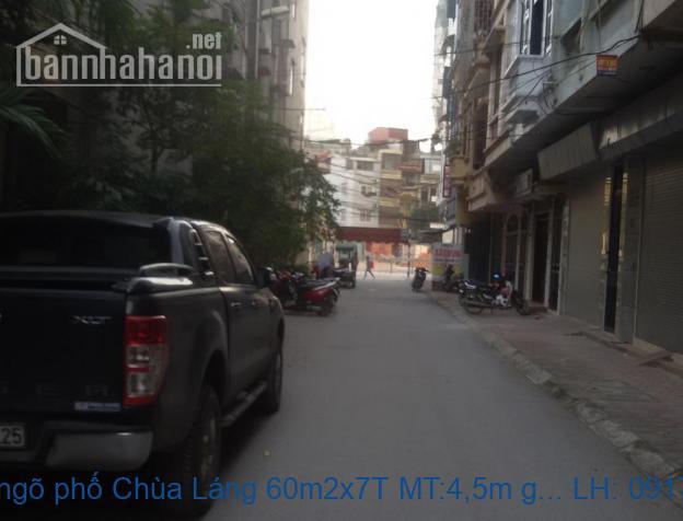 Bán nhà ngõ phố Chùa Láng 60m2x7T MT:4,5m giá 15,5tỷ