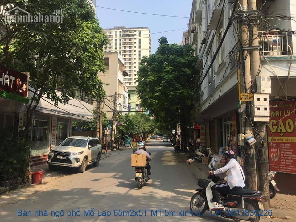 Bán nhà ngõ phố Mỗ Lao 65m2x5T MT:5m kinh doanh giá 9,8tỷ