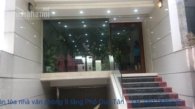 Bán tòa nhà văn phòng 9 tầng Phố Duy Tân 200m2 giá 65tỷ