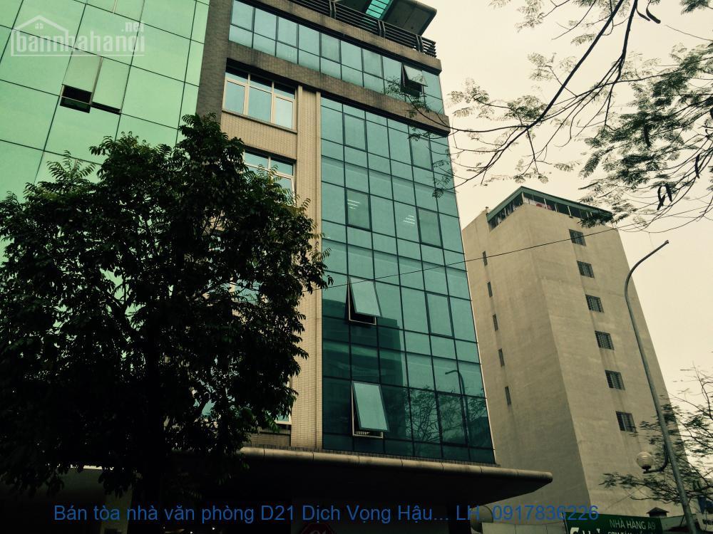 Bán tòa nhà văn phòng D21 Dịch Vọng Hậu 148m2x8T MT: 8m giá 42tỷ