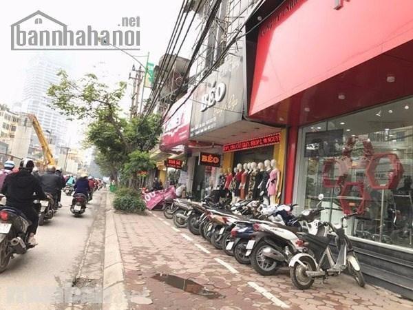 Cho thuê nhà mặt phố Nguyễn Ngọc Vũ 200m2x5T MT:6m giá 65tr/thang